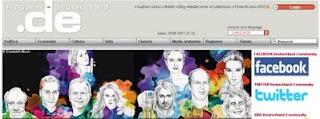 ¡Bill Kaulitz en la página principal de magazin-deutschland! Dibujo