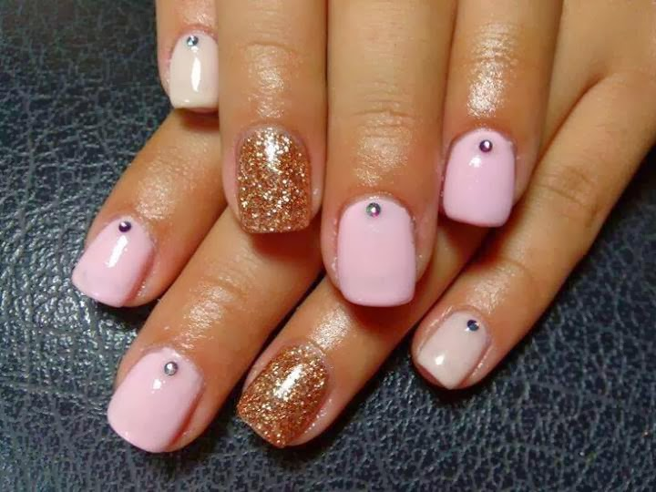 acrylic extensions for length ombre with Gelish 'rose gold' for feats ans clear crystals LED-polish-manicure-OPI-Nail-Polish-Lacquer-Pedicure-care-natural-healthcare-Gel-Nail-Polish-beauty-Acrylic-Nails-Nail-Art-USA-UK2