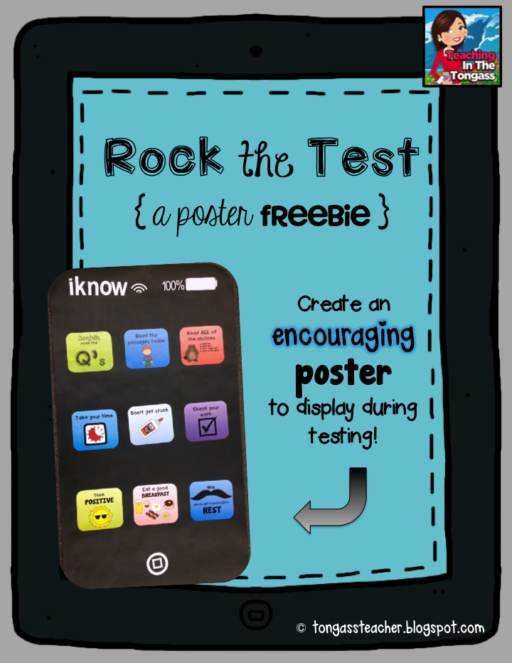 http://www.teacherspayteachers.com/Product/Testing-Poster-freebie-1199795