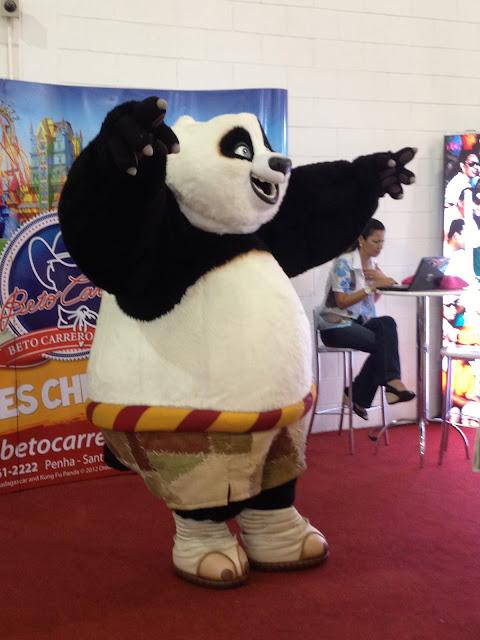 O Panda animando os participantes da WTM