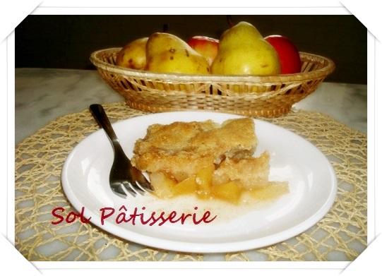 Cromble aux poires, aux pommes et flocon d'avoine