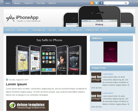 iPhoneApp Blogger Theme