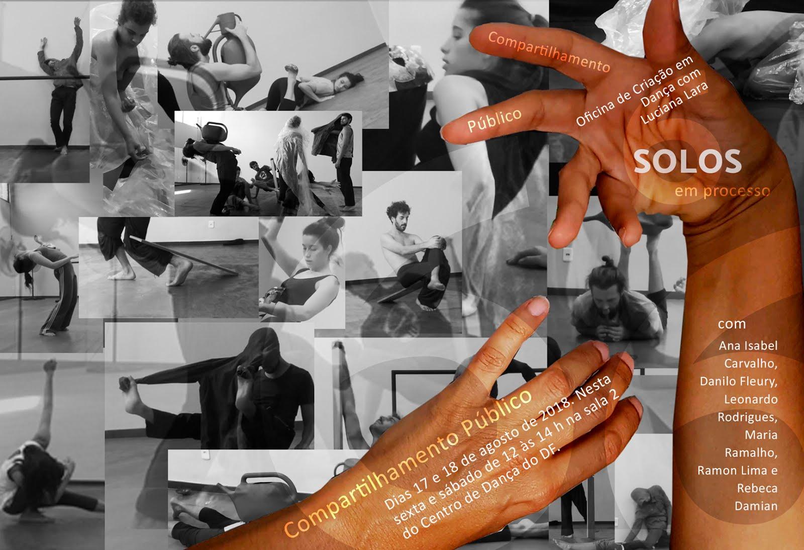 Compartilhamento público dos  solos em processo da Oficina de criação em dança com Luciana Lara