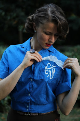 Vintage College Blouse #1950s #college #fashion #style