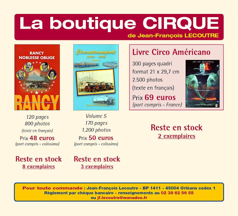burguscircus la boutique cirque des editions jf lecoutre. Black Bedroom Furniture Sets. Home Design Ideas