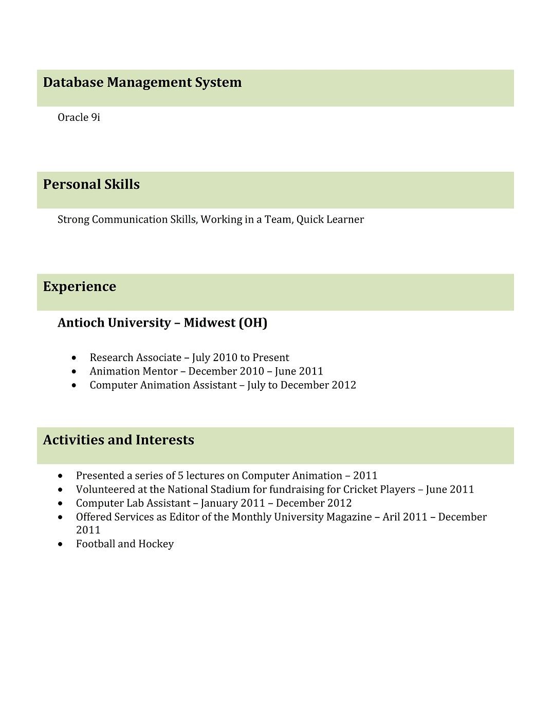 9 best resume templates for freshers best template 1 doc