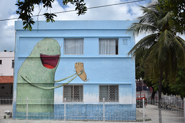 Bisser just finished working on a brand new piece which took place on the streets of Fortaleza in lovely Brazil.