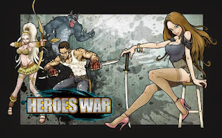 Screenshots of the Heroes War™ for Android tablet, phone.