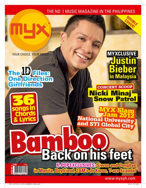 Bamboo on the cover of MYX Magazine
