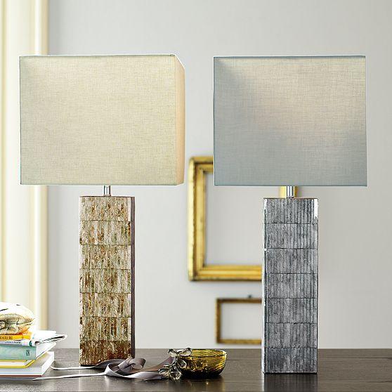 #4 Tiled Capiz Table Lamps, West Elm
