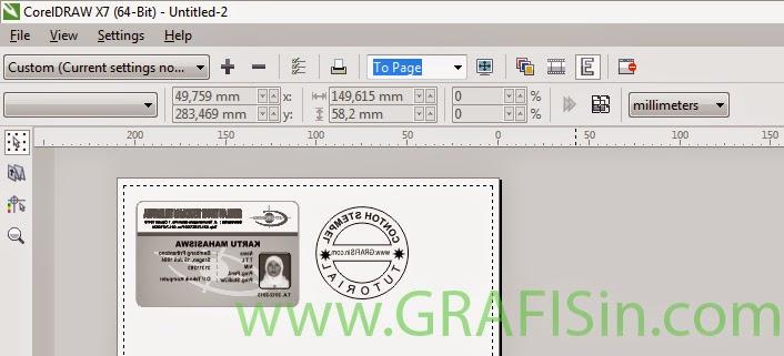 Print Preview ID Card dan Stempel di CorelDraw