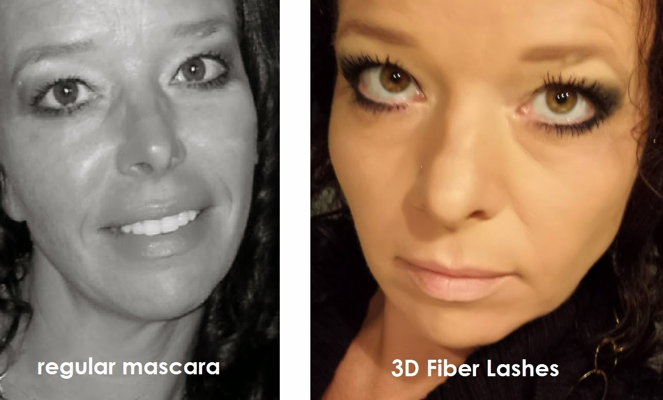 3D Fiber Lashes by Younique before after