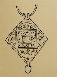 Pendiente de oro, siglo XIV