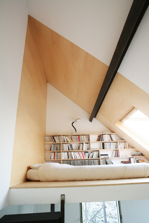 Home Library Slanted Loft