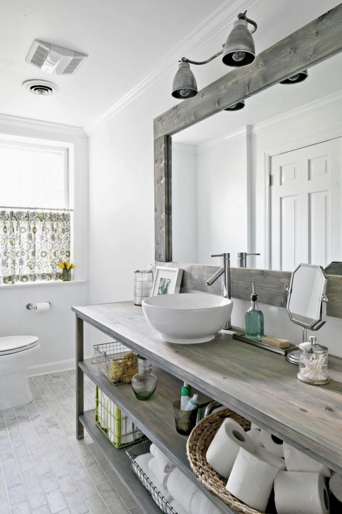 Refresheddesigns seven stunning modern rustic bathrooms - Decoration scandinave vintage ...