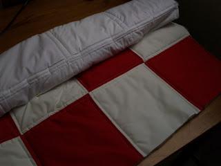 Patchwork ágytakaró, sakktábla, amőbatábla