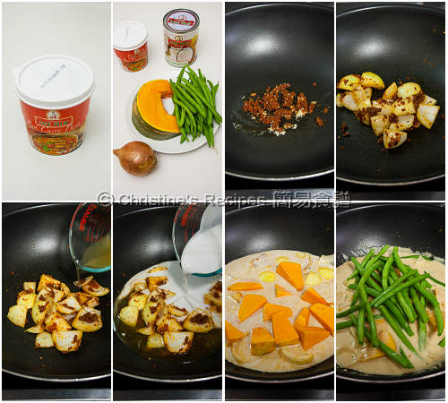 Pumpkin & Green Bean Red Curry Procedures