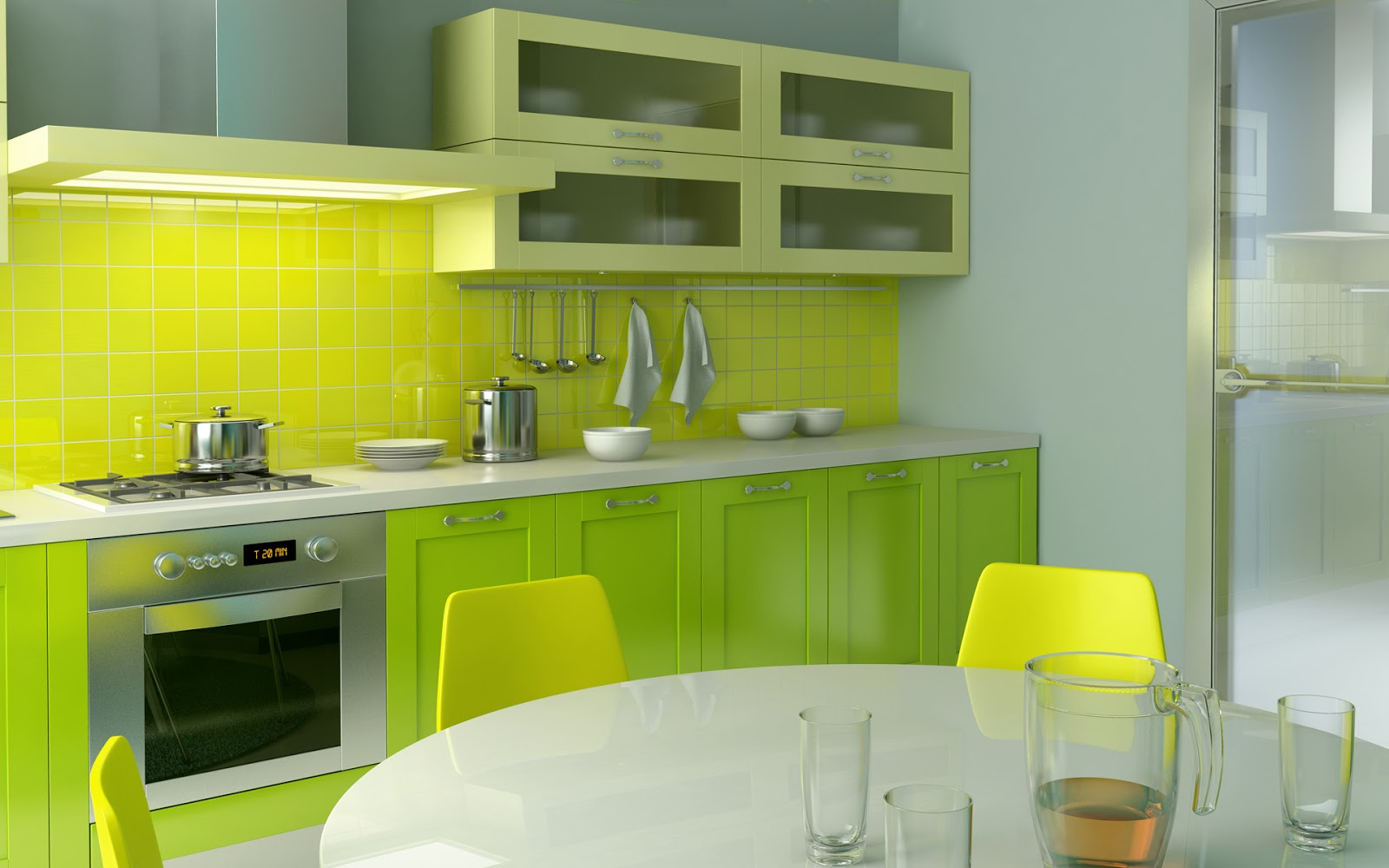 Good Looking Kitchen And Dining Hall Interior Design