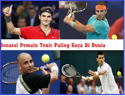 Senarai Pemain Tenis Paling Kaya Di Dunia