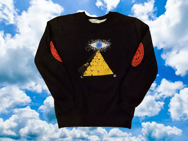 Black All-Seeing Lie Crewneck