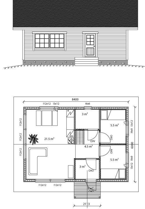Viviendas unifamiliares arquitectura y construccion plano vivienda 50 m2 - Casas unifamiliares planos ...