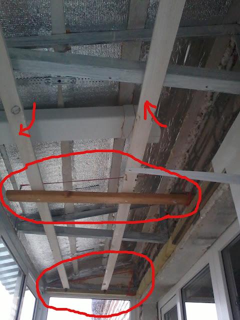 Как сделать потолок на балконе