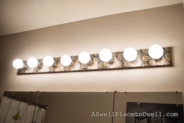 Snake Skin Duct Tape Light Fixture #ducttape