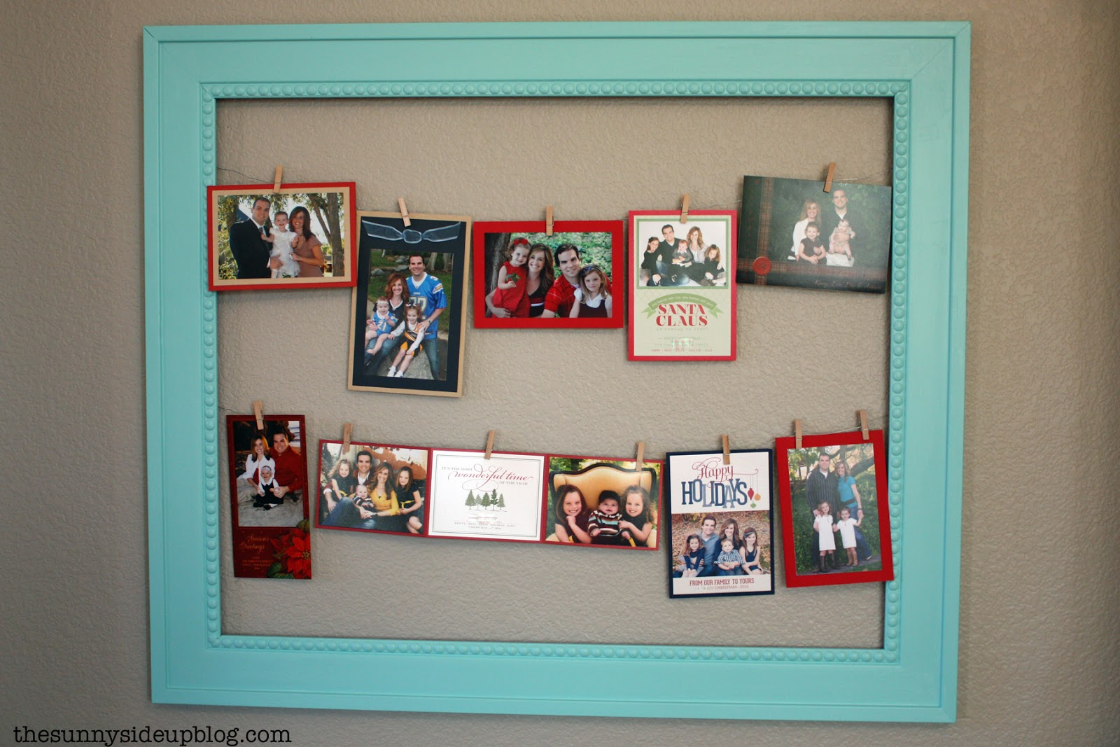 Picture frame spotlight the sunny side up blog i also used it to frame our own past christmas cards and other holiday artwork from the kids i just forgot to take pictures each month jeuxipadfo Choice Image