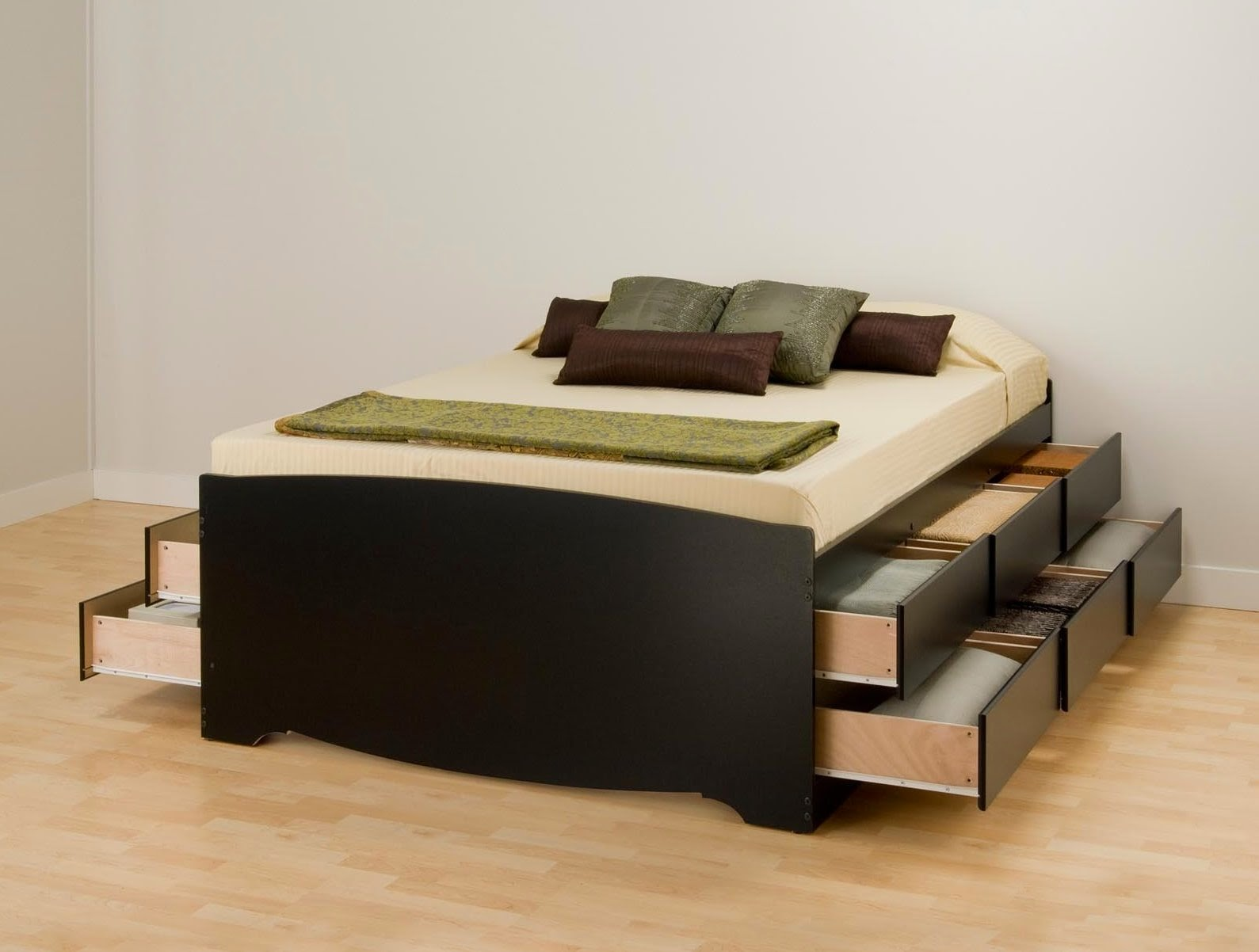 Twin Bed with Double Drawers No Headboard