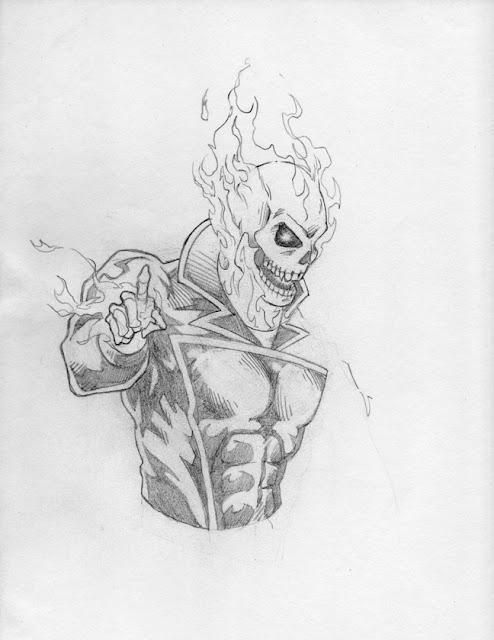 Dennis m sweatt comic book creations and design ghost - Dessin de ghost rider ...