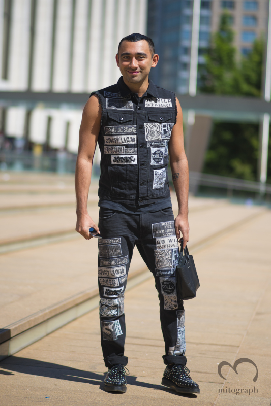 Nicola Formichetti at Lincoln Center during New York Fashion Week 2015 Spring Summer NYFW