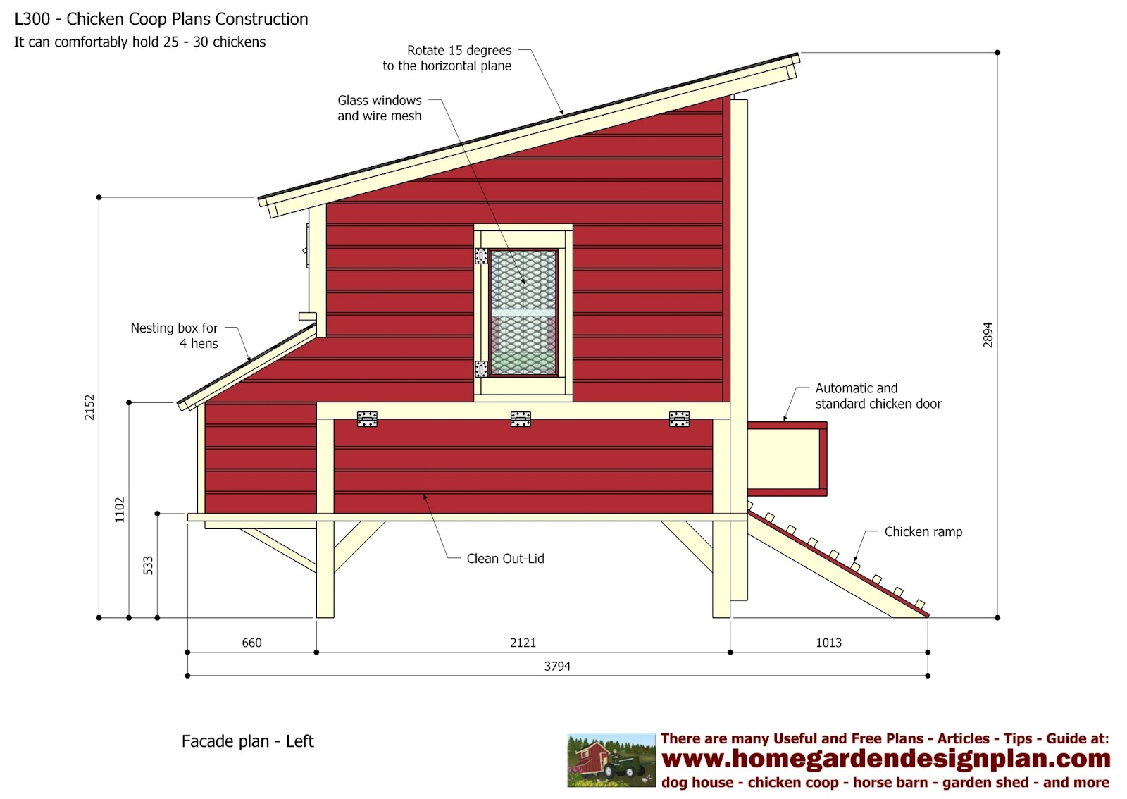 how to make a chicken coop with 20