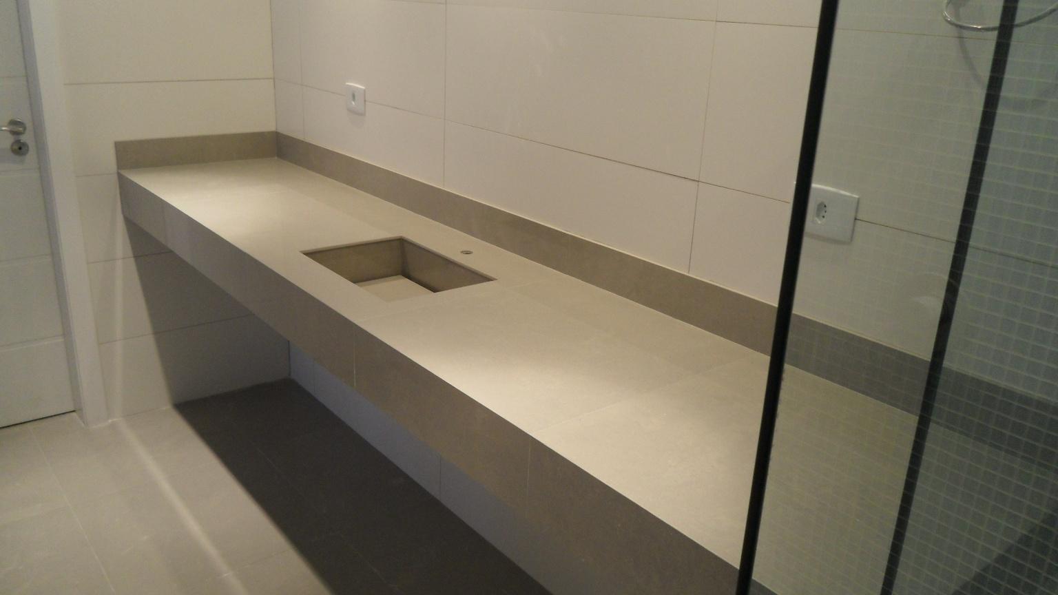 em porcelanato.: Bancada porcelanato 60 x 60 com cuba porcelanato #8A6F41 1536x864 Banheiro Com Bancada De Porcelanato