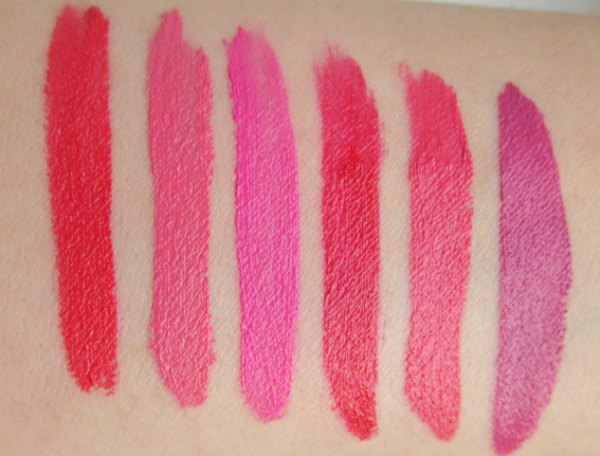 NYX Soft Matte Lip Creams - Swatches - Amsterdam, Antwerp, Addis Ababa, Monte Carlo, Ibiza, Prague
