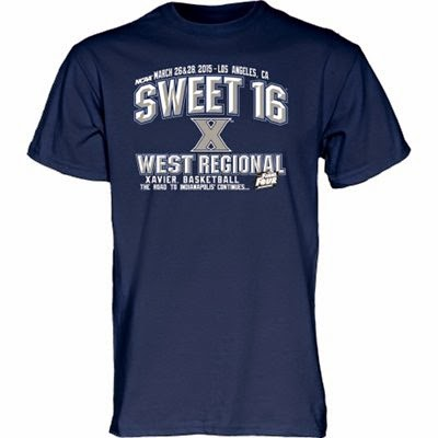 xavier sweet 16 t-shirts