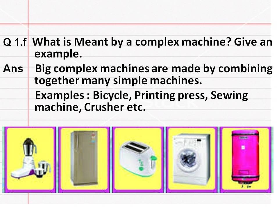 Simple Machines Qa My Sixth Class