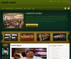Poker Point Blogger Template