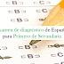 Exámenes de diagnóstico de español para los tres grados de secundaria