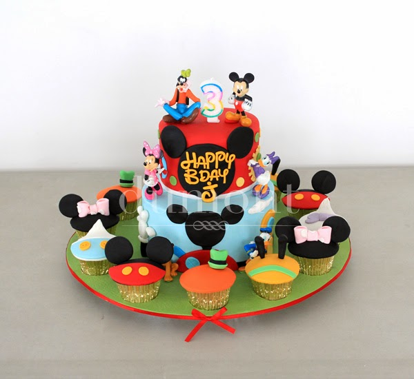 Mickey Mouse Clubhouse Cake Cupcakes For Js Birthday