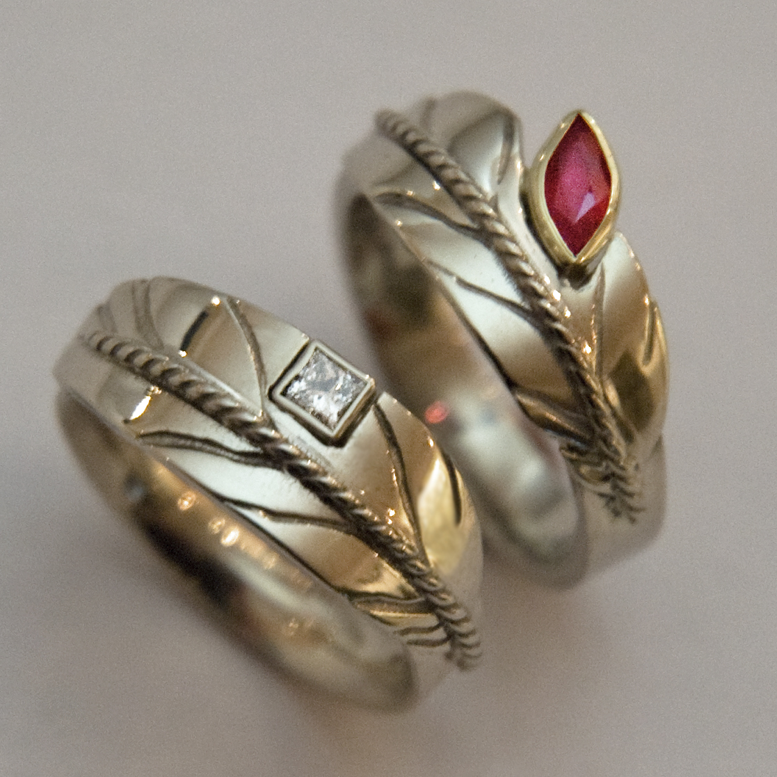 teachings of eagle feather part 5 native american wedding rings Sky Dreamers wedding bands
