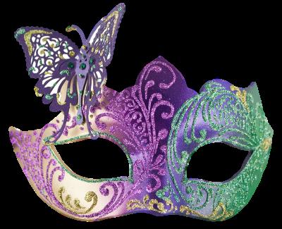 Máscara Carnaval PNG - Borboleta e brilhantes