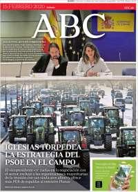 15/02/2020  PRIMERA PÁGINA DE ABC  DE ESPAÑA