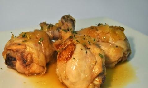 Pollo en salsa habanera