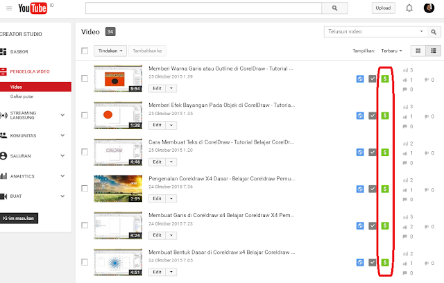 cara memonetize video di youtube supaya dapat penghasilan dari google adsense