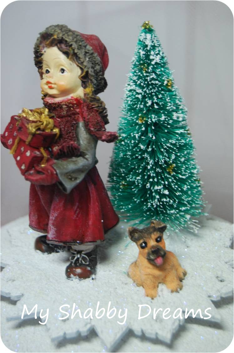 My shabby dreams shop carillon con bambina cagnolino e - Carillon portagioie bambina ...