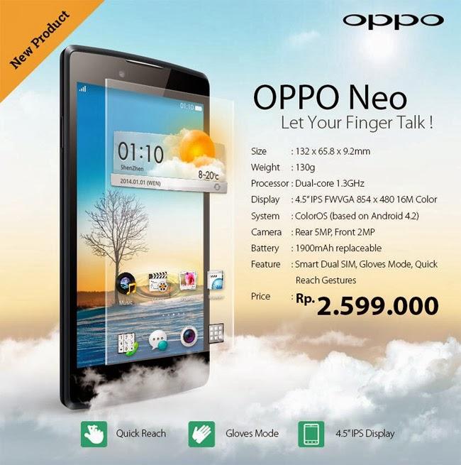 Oppo Neo ya es oficial, un Android de 4.5 pulgadas por 150 euros