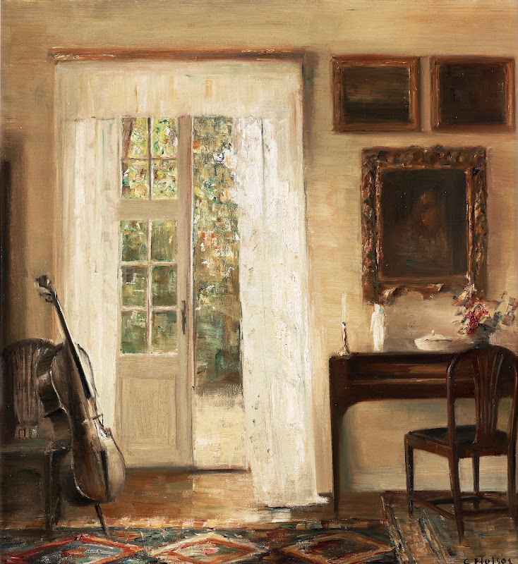 Carl Holsoe - Interior med cello