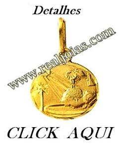 BATISMO-Pingente de Ouro-Real Joias-Mandaguari-pr