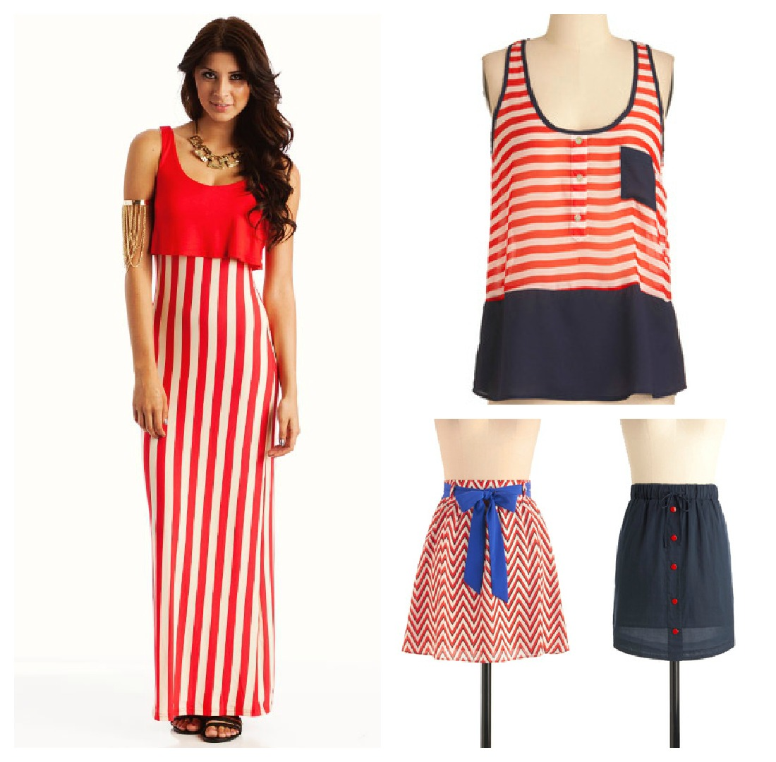 Plus size american flag maxi dress