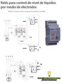 reléspara control de nivel de liquidos por medio de electrodos